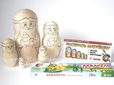 Matroesjka 'Colour Doll - Kerstman', 5-delig_