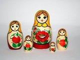 Traditionele Matroesjka 'Rossiyanka', 5-delig_