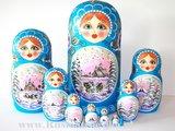 Matroesjka 'Winter', 10-delig_