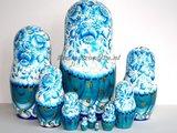 Matroesjka 'Delfts blauw', 10-delig_