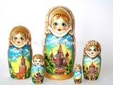 Matroesjka 'Moskou', 5-delig _