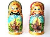 Matroesjka 'Moskou', 7-delig _