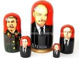 Matroesjka 'Russische leiders', 5-delig_