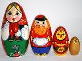 Matroesjka-sprookje 'Kip Rjaba', 4-delig _
