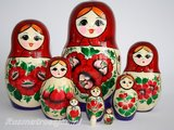 UITVERKOCHT Traditionele Matroesjka 'Souvenir', 9-delig_