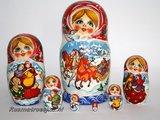 Matroesjka 'Winter', 7-delig_
