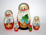 Matroesjka 'Kerstman', 5-delig_