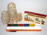 Matroesjka 'Colour Doll'-2, 5-delig_