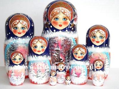 Matroesjka 'Russische winter', 10-delig