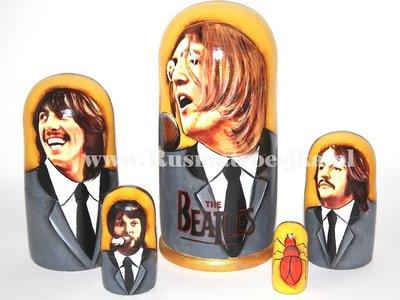 Matroesjka 'Beatles', 5-delig
