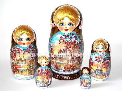 Matroesjka 'Russische herfst', 5-delig