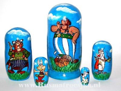 Matroesjka 'Asterix en Obelix', 5-delig
