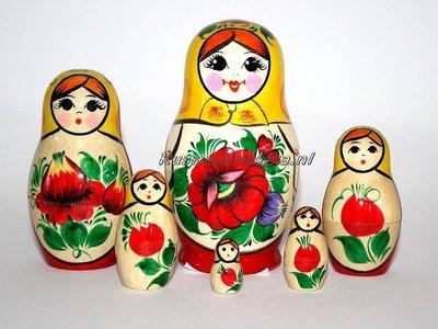 Traditionele Matroesjka 'Rossiyanka', 6-delig