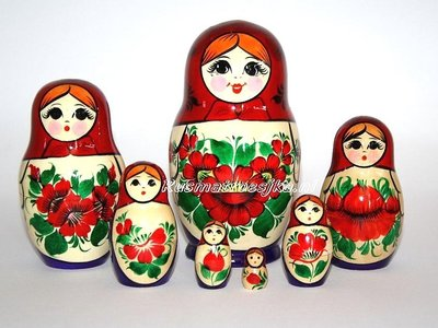UITVERKOCHT Traditionele Matroesjka 'Souvenir', 7-delig