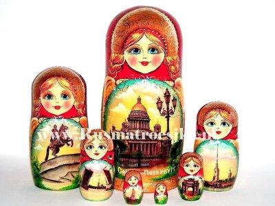 Matroesjka 'Sint-Petersburg', 7-delig