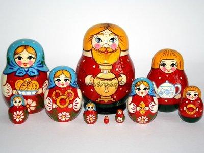 Matroesjka 'Familie', 10-delig
