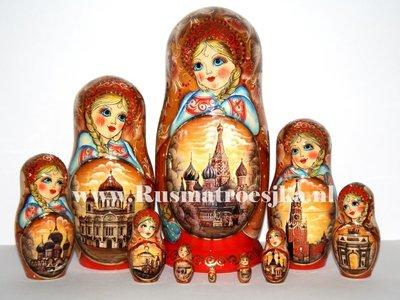 Exclusieve Matroesjka 'Moskou', 10-delig