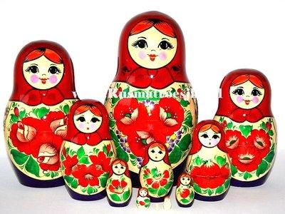 Traditionele Matroesjka 'Souvenir', 11-delig