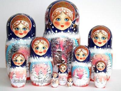 Matroesjka 'Sneeuw', 10-delig