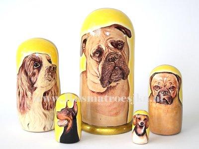 Matroesjka 'Honden', 5-delig