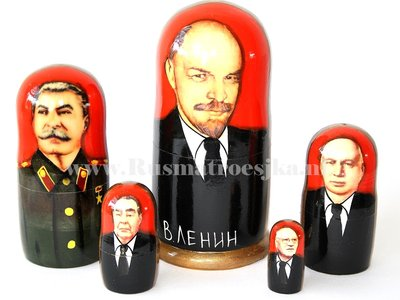 Matroesjka 'Russische leiders', 5-delig