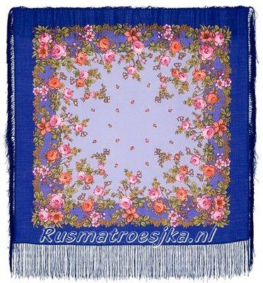 Russische Sjaal met zijden franjes
