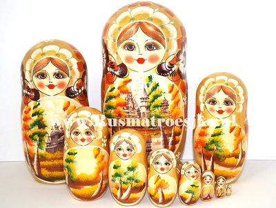 Matroesjka 'Russische herfst', 10-delig