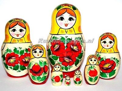 Traditionele Matroesjka 'Rossiyanka', 8-delig