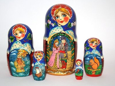 Matroesjka-sprookje 'Het sprookje van tsaar Saltan'