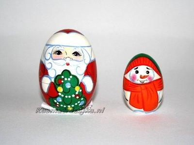 Matroesjka 'Kerstman', 2-delig