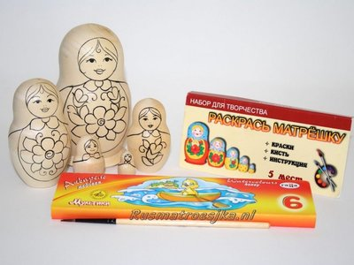 Matroesjka 'Colour Doll'-2, 5-delig