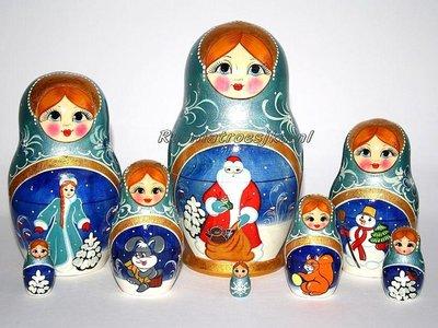 Matroesjka 'Nieuwjaarsnacht', 8-delig