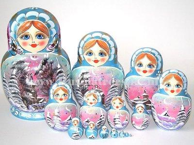 Matroesjka 'Russische winternacht', 15-delig