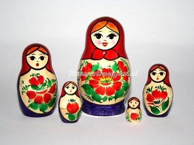 Traditionele  Matroesjka 'Souvenir', 5-delig