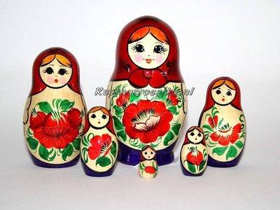 Traditionele  Matroesjka 'Souvenir', 6-delig