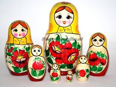 Traditionele Matroesjka 'Rossiyanka', 7-delig