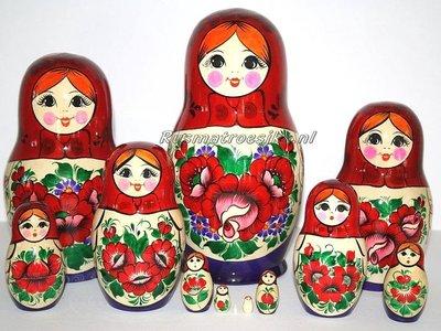 UITVERKOCHT Traditionele Matroesjka 'Souvenir', 12-delig