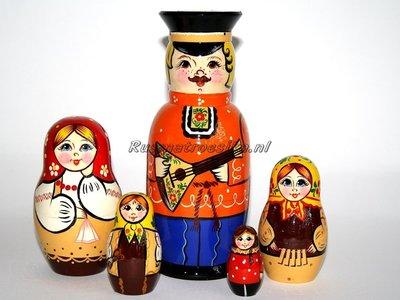 Matroesjka 'Familie', 5-delig
