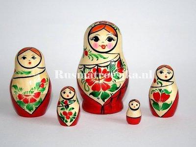 Traditionele Matroesjka 'Sudarushka', 5-delig