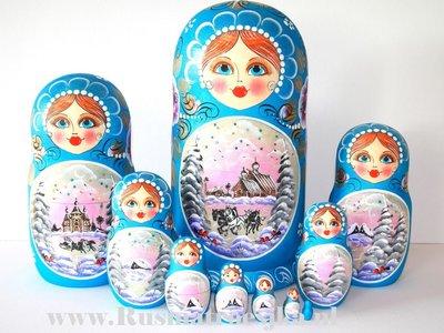 Matroesjka 'Winter', 10-delig