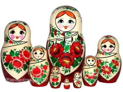 UITVERKOCHT Traditionele Matroesjka 'Sudarushka', 8-delig
