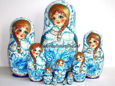 Matroesjka 'Delfts blauw', 10-delig