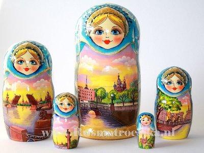 Matroesjka 'Sint-Petersburg', 5-delig