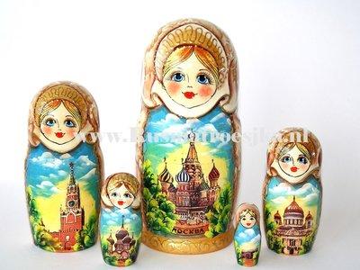 Matroesjka 'Moskou', 5-delig