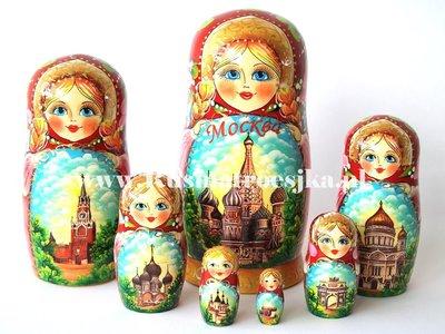 Matroesjka 'Moskou', 7-delig