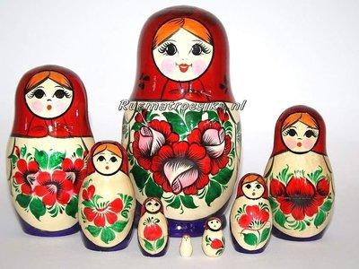 Traditionele Matroesjka 'Souvenir', 8-delig