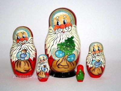 Matroesjka 'Kerstman', 5-delig